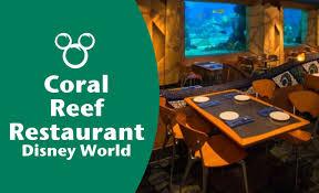 underwater restaurant disney world. Wonderful Disney Coral Reef Restaurant  Disney World To Underwater