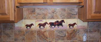 Mural Tiles For Kitchen Decor horse decorated kitchen Horse Murals Kitchen Tile Backsplashes 39