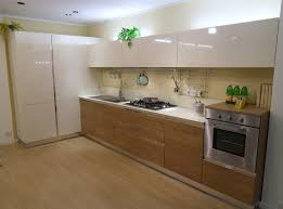 modern kitchen cabinet without handle. The Kitchen Without Handles Horizon In Polymeric Gloss Cream And Walnut Finish. A Modern Composition Rich Images Of Vessels: Note Large Corner Cabinet Handle