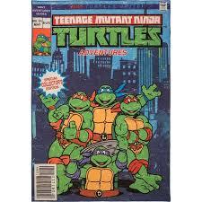 teenage mutant ninja turtles 5 x7 comic book rug thumb