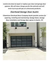 chameleon overhead garage doors company in austin tx