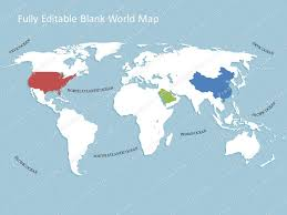 Editable World Map For Powerpoint World Map Template For Powerpoint Premiumslides Com