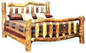 Log Cabin Bed Frame Queen Frames Bedroom Rustic And Breakfast New Ca ...