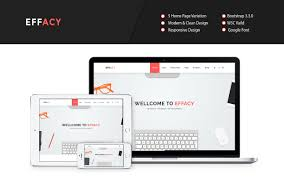 effacy bootstrap one page portfolio template graygrids effacy bootstrap one page portfolio template