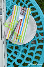 painted metal patio furniture. Turquoise Painted Outdoor Table From DIY Tutorial To Paint Metal Outfdoor  Furniture Patio D