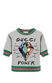 gucci kids. gucci kids\u0027 embellished cotton sweatshirt kids i