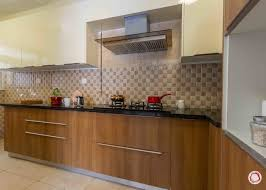 Latest House Design Brown And White Kitchen Cabinets Interior