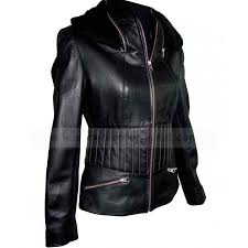 vintage womens black leather motorcycle jacket