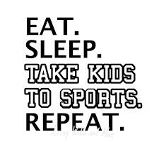 Funny Sports Quotes Gorgeous Eat Sleep Take Kids To Sports Repeat SVG Png Jpg Sports Svg Etsy