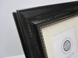 The Gallery 8x10 Antique Black Photo Frame with Mat