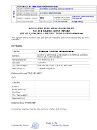 Contract 2mmt Prodawa 1 2 Letter Of Credit Bill Of Lading