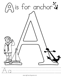 Small Picture Alphabet Coloring Pages