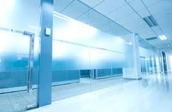 office corridor door glass. Office Corridor Door Glass Stock Photography L