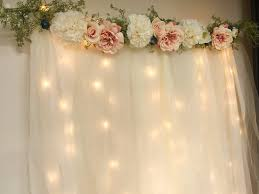 Diy Curtains With Lights Diy Lit Tulle Backdrop Six Clever Sisters