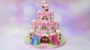 How To Make A Pretty Princess Castle Cake Cake Craft World