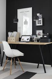 small office setup. Home Office Small Setting Up Wall Color Black Setup