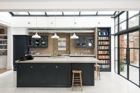 Kitchen Island Open Shelves Grey Kitchen Island Blue Gray Island Paint Color Benjamin Moore