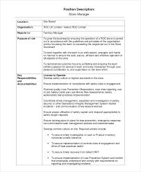 13 Job Description Templates Free Sample Example Format Free