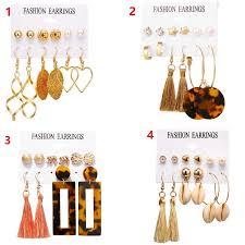 Dangling Earrings Alloy Flower <b>Hollow Out Earrings Long</b> Tassel ...