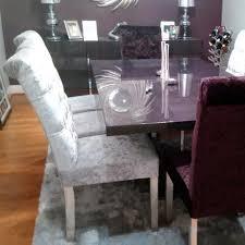 bespoke crushed velvet hardwood oned roll top dining chair