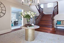 new york round foyer tables entry traditional with double stair cases window cleaners stone table top