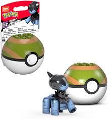 Amazon.com: Mega Construx Pokemon Deino Figure Building Set with Poke Ball:  Toys & Games