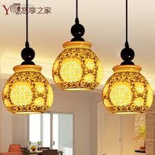 get ations chinese ceramic lamp chandelier lamp light bar restaurant lights chandelier three stairs dining room lighting porcelain