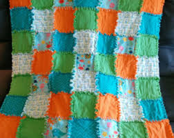 Nemo quilt | Etsy & Custom Rag Quilt - Baby Blanket - Patchwork Quilt - Handmade Quilt -  Nursery Bedding - Adamdwight.com