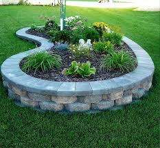 Small Picture Image of stones raised flower bed plans Outdoor spaces
