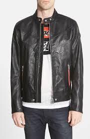 sel reed black buffalo leather moto jacket
