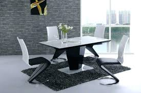 black and white gloss dining table chairs oslo high stowaway elegant bla