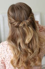 Half Up Half Down Wedding Hairstyles 42 Awesome Looped Half Updo MISSY SUE