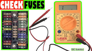 Automotive Fuse Types Chart How To Check Car Fuses Without Pulling Them Out Testing Fuses With A Multimeter