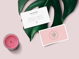 feminine business card mockup free