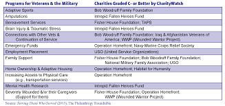 Charity Efficiency Chart A Donors Guide To Serving The Needs Of Veterans And The