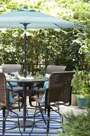 bar height patio tables with umbrella