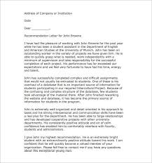 25 Recommendation Letter Templates Free Sample Format Template