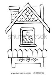 coloring book for kids a nice house a smart house