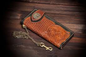 hand tooled leather wallet leather men s wallet hand carved wallet skull