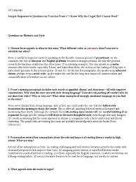 prose sample responses essays rhetoric