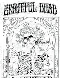 736x951 Great Exciting Grateful Dead Coloring Pages Print Coloring