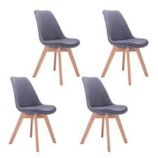 modern dining chairs. CO-Z Mid Century Modern Dining Chairs, Eames DSW Eiffel Side Chair For Chairs S