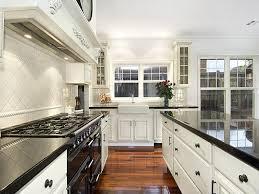 galley kitchen design in modern living