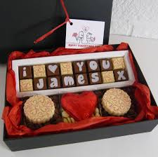 personalised gift box of i love you chocolates