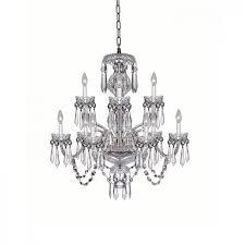 cranmore 9 arm chandelier waterford ca regarding crystal decor 2