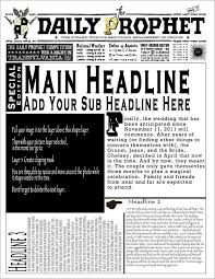 Newspaper Template Sparklebox Daily Prophet Newspaper Template Magdalene Project Org