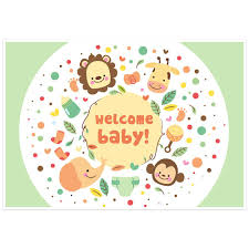 Baby Shower Banner Jungle Animals Baby Shower Banner Dessert Cake Table Personalized