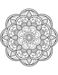 Disegno Di Mandala Di Fiori Da Colorare Disegni Da Colorare E