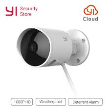 YI Outdoor Security Camera Cloud Cam Wireless IP 40p Resolution Simple Exterior Cameras Home Security Minimalist Collection