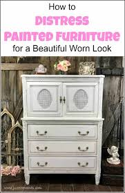 learn distressed furniture painting techniques and learn the easy furniture painting technique of distressing chalk paint